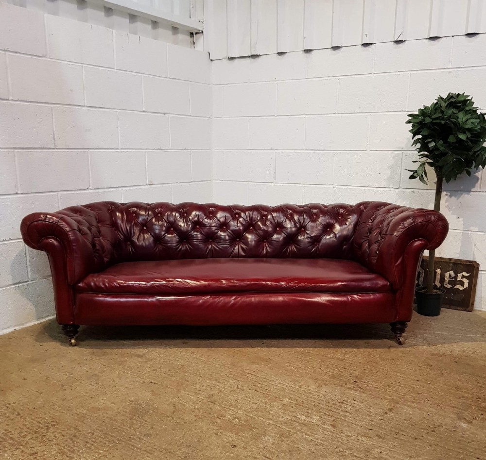 Pleasing Antique Victorian Leather Chesterfield Sofa By Cornelius V Download Free Architecture Designs Aeocymadebymaigaardcom