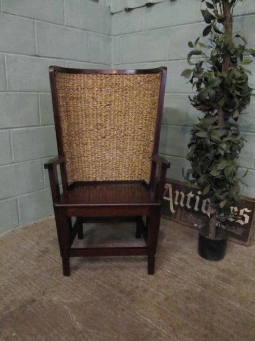 Item saved. The ANTIQUE EDWARDIAN MAHOGANY ORKNEY CHAIR ... - Antique Edwardian Mahogany Orkney Chair C1900 6255/7.2 105537