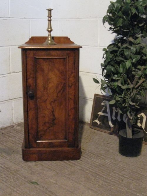 antique victorian walnut bedside cabinet pot cupboard c1880 - Antique Victorian Walnut Bedside Cabinet Pot Cupboard C1880 50679